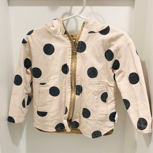 Toddler girl polka dot jacket